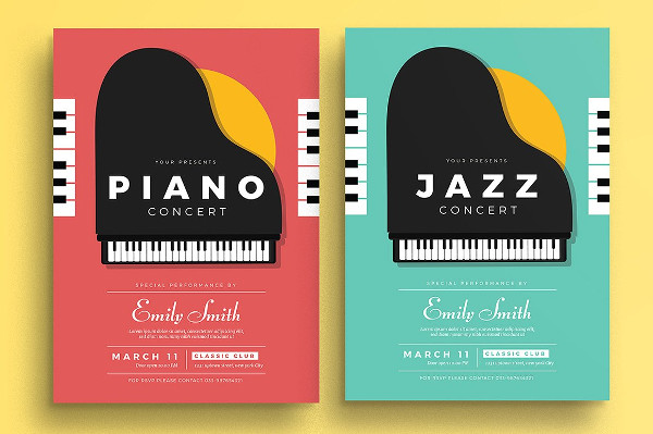 Piano Concert Poster Template