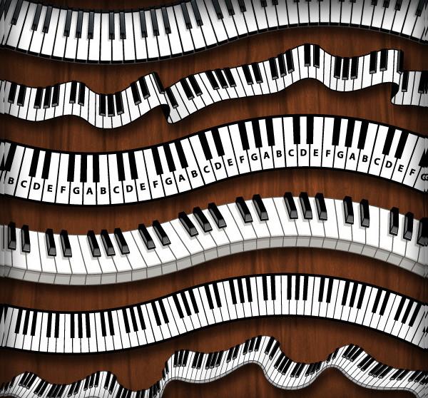 Piano Keys Pattern Brush Set