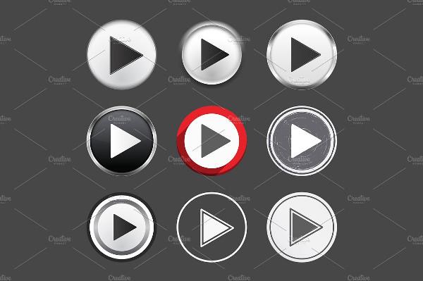 Play Black Button Set