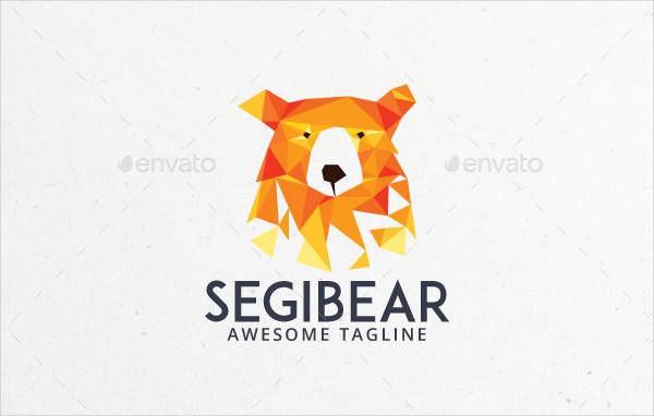 Polygonal Bear Logo Template