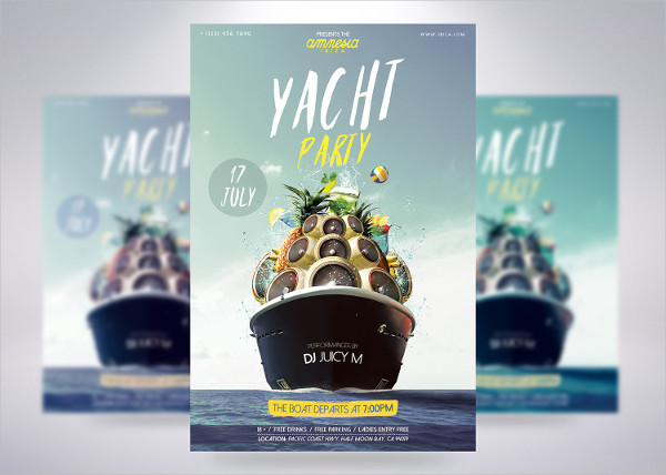 Popular Yacht Party Flyer