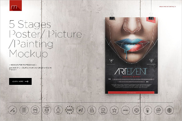 Poster On 5 Stages Mock-up
