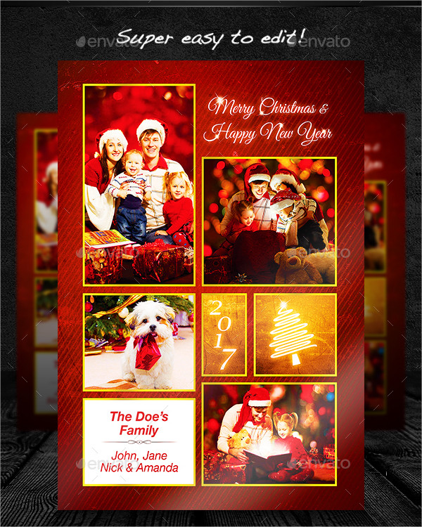 Print Ready Christmas Photo Card Template