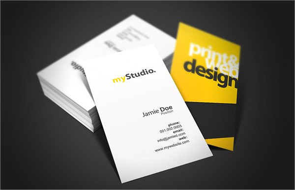 Print Ready Studio Card Template