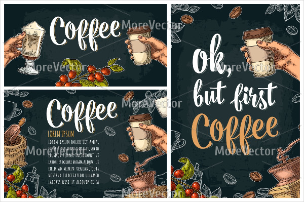 Printable Chalkboard Coffee Poster