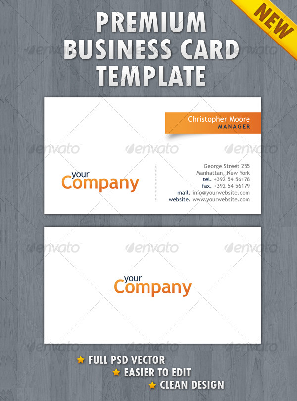 Printable Clean Business Card Template