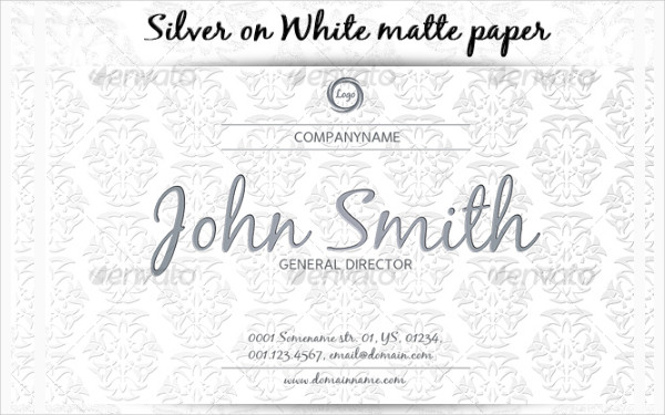Printable Luxury Business Cards