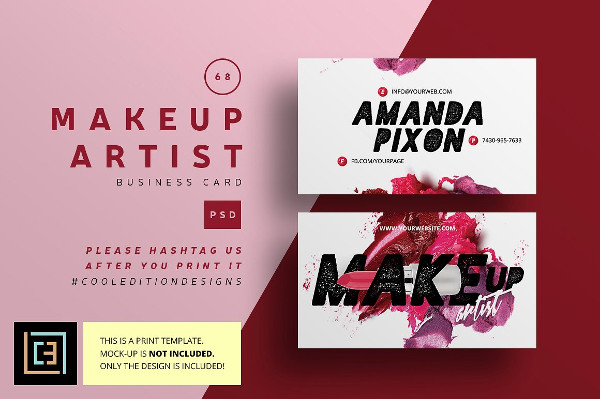 Printable Makeup Artist Business Cards
