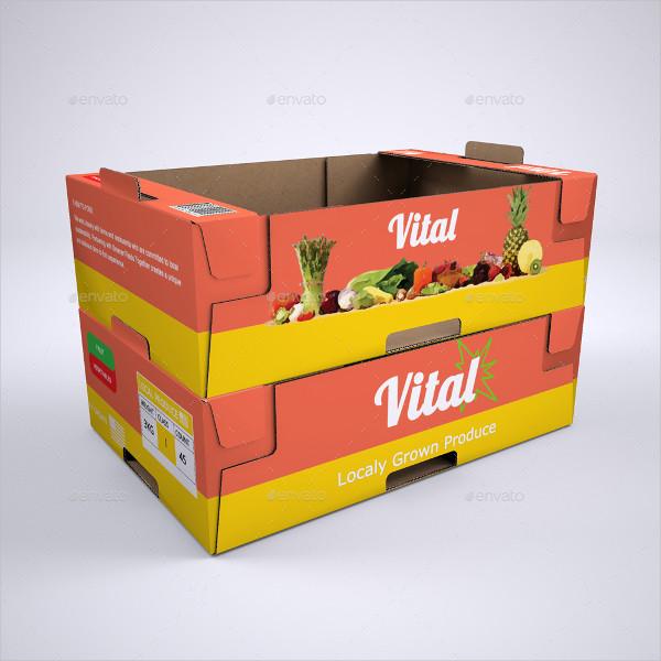 Produce Cardboard Tray or Box Mock-Up