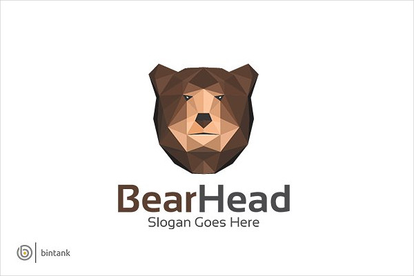 Professional Bear Head Logo Template