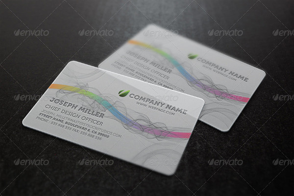 Professional Plastic Translucent Business Card