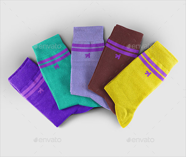 Professional Socks Set Mockup
