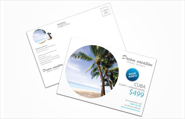 Professional Travel Agency Postcard Template