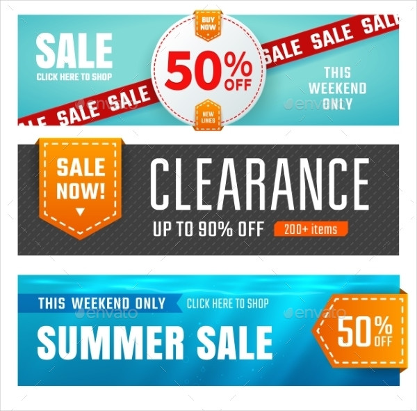 Set of Sale Banners Design Vector Illustration