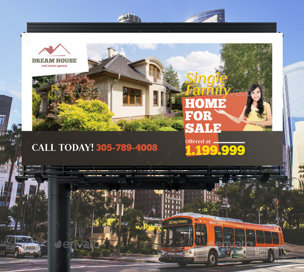 Real Estate Billboard Banner Template