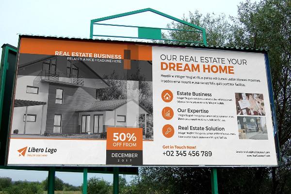 Real Estate Billboard Signage