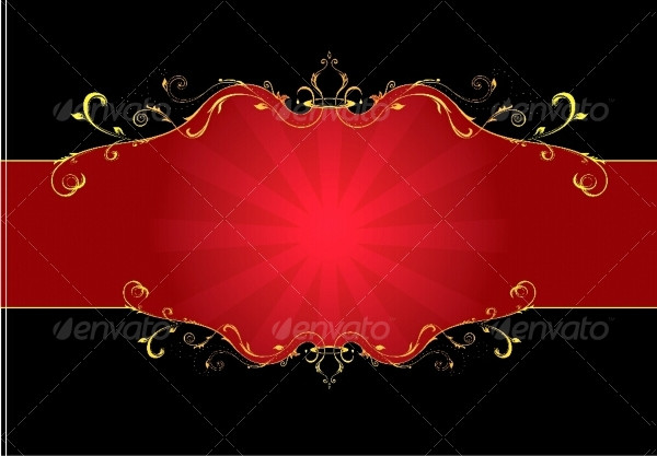 Red Floral Label Template
