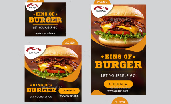 Fast Food Banner Design Templates