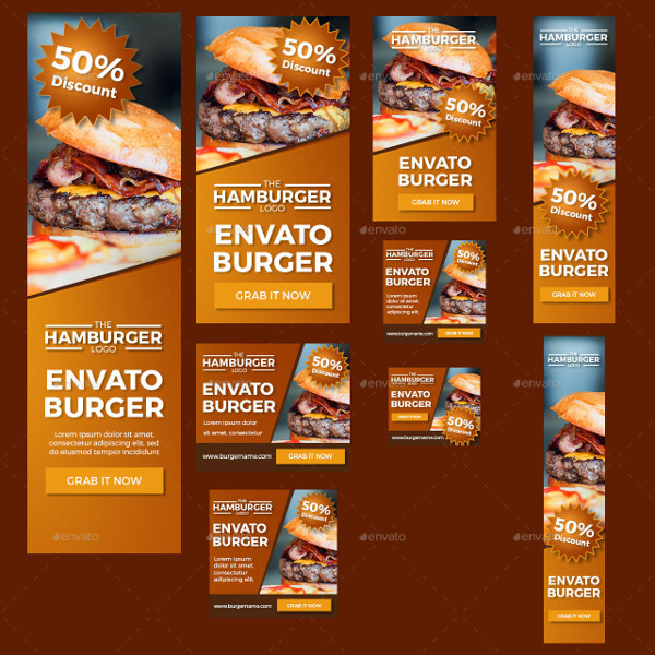 Burger Food Banner Designs