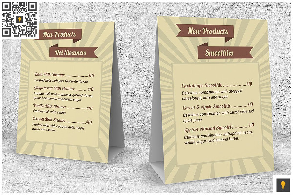 Retro Coffee Shop Menu InDesign Template