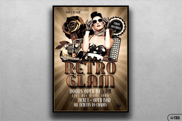 Retro Glam Flyer Template