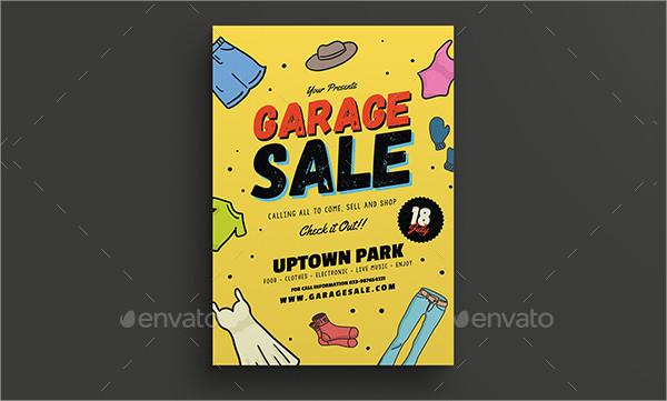 Retro Style Garage Sale Flyer