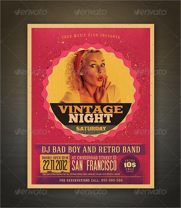 Unique Retro Style Party Flyer