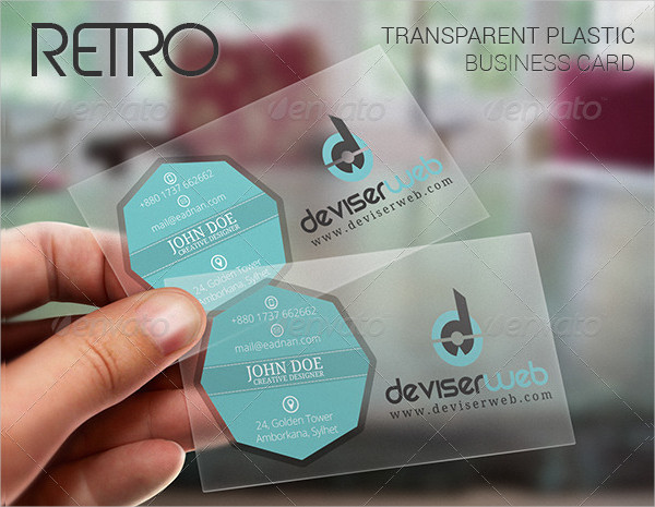 Retro Transparent Plastic Business Card