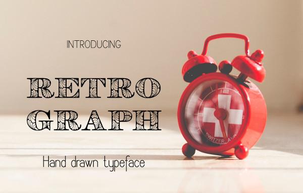 Retro Hand Drawn Decorative Font