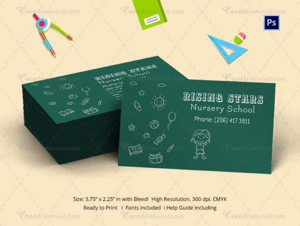 Beautiful Daycare Business Card Template