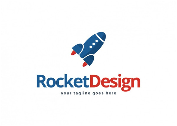 Rocket Shape Logo Template Free Download
