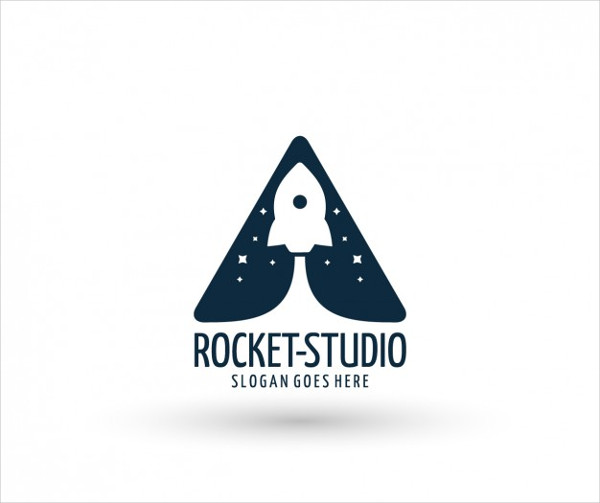 Rocket Ship Logo Template Free Download