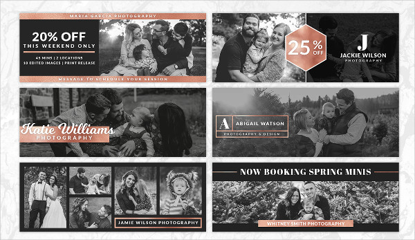 Rose Gold Photography Facebook Timeline Cover Templates