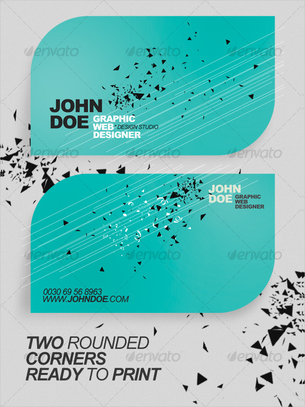 Rounded Minimalistic Business Card Template
