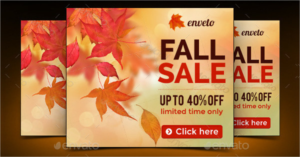 Fall Sale Marketing Banner Design
