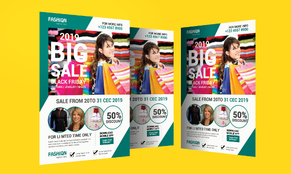 Fashion Sale Promotional Flyer Template