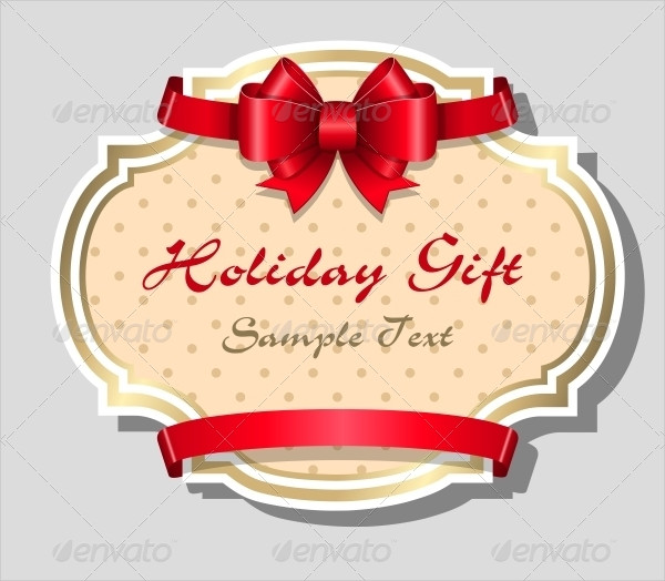 Sample Holiday Gift Card Design