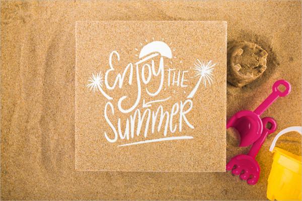Free PSD Cardboard Mockup on Sand