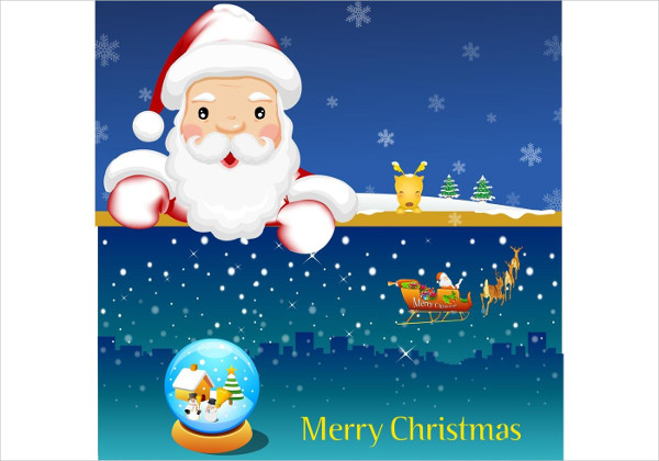 Santa Christmas Photo Card Template Free Download