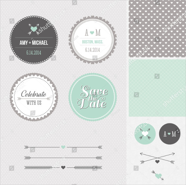 Save the Date label Templates