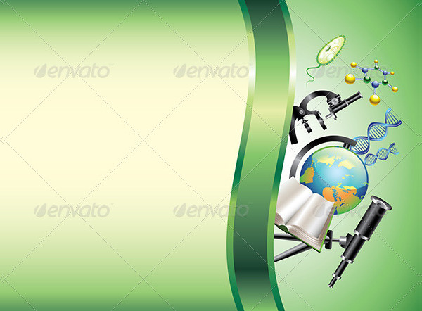 Scientific Horizontal Vector Background