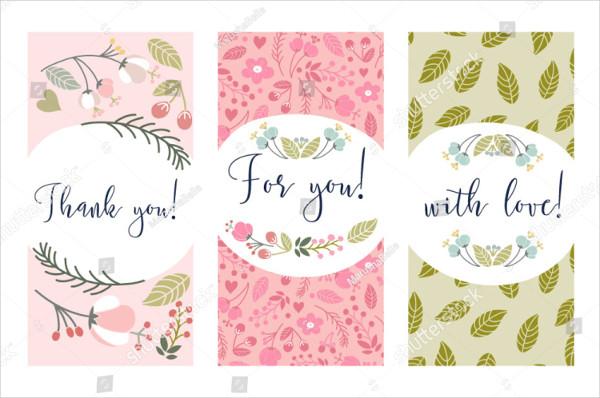 Set of Floral Labels Template