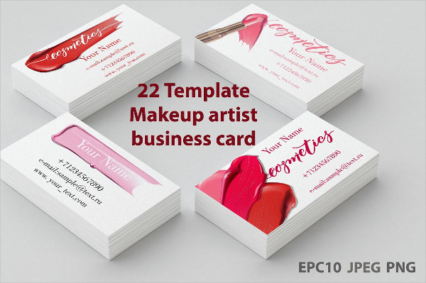 Set of Templates Makeup Artist Business Cards