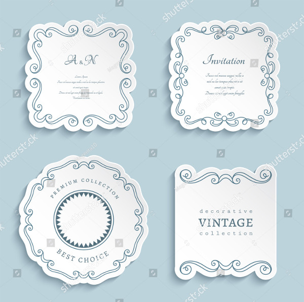 Set of Vector Labels for Wedding