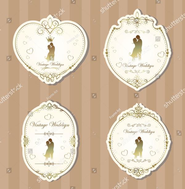 Set of Wedding Label Templates