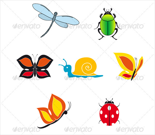 Set Of Insect Icons For Web Design