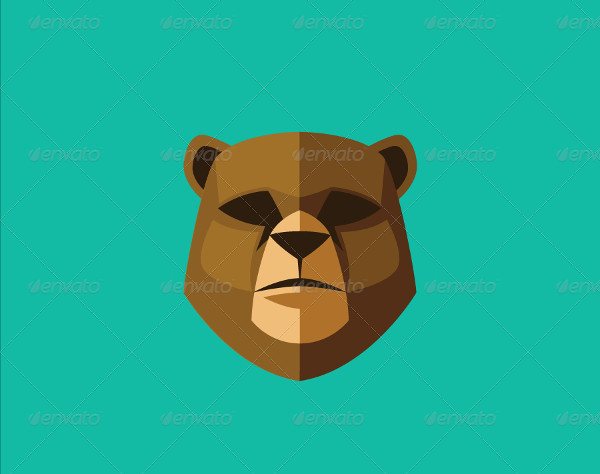 Simple Bear Logo Template