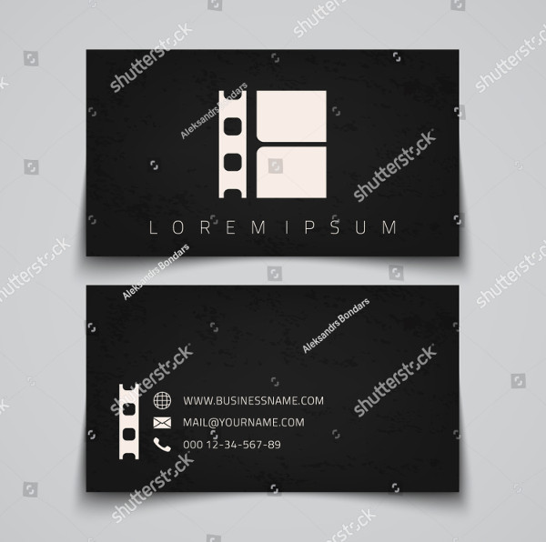 Simple Cinema Business Card Template