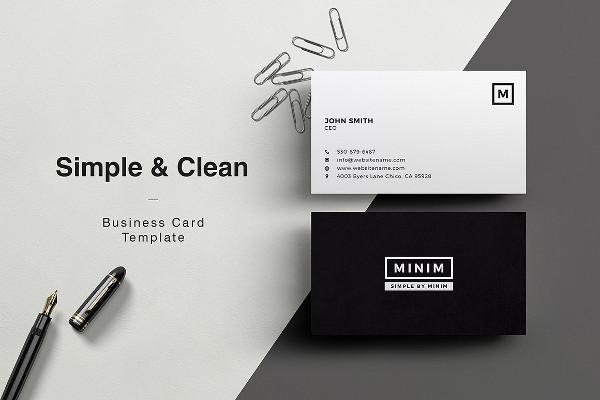 Simple & Clean Business Card Design