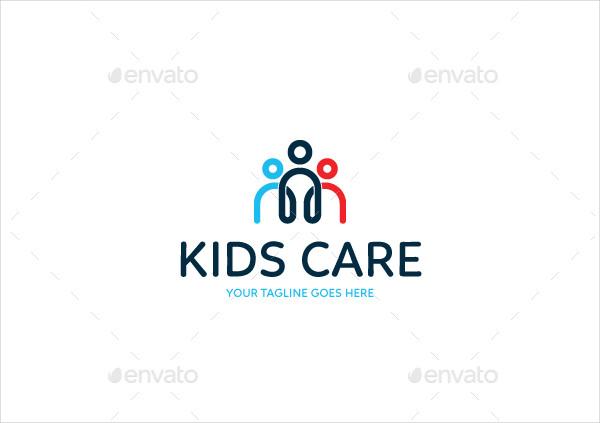 Simple Kids Care Logo Design